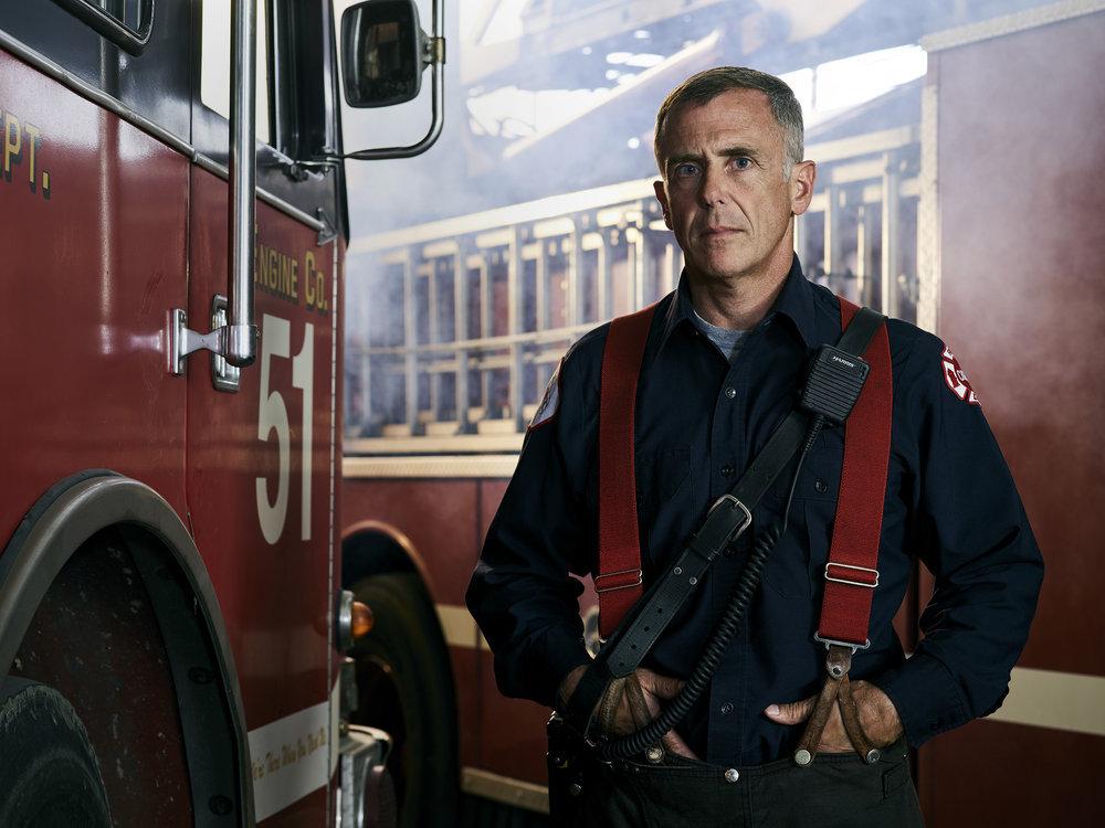 CHICAGO FIRE -- Season: 6 -- Pictured: David Eigenberg as Christopher Herrmann -- (Photo by: John Tsiavis/NBC)
