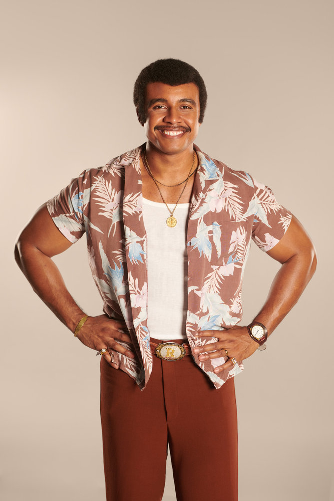 YOUNG ROCK --  Season: 1 -- Pictured: Joseph Lee Anderson as Rocky Johnson -- (Photo by: Mark Taylor/NBC)