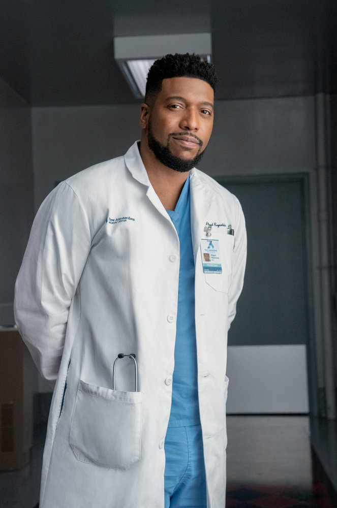 NEW AMSTERDAM -- Season:3 -- Pictured: Jocko Sims as Dr. Floyd Reynolds -- (Photo by: Virginia Sherwood/NBC)